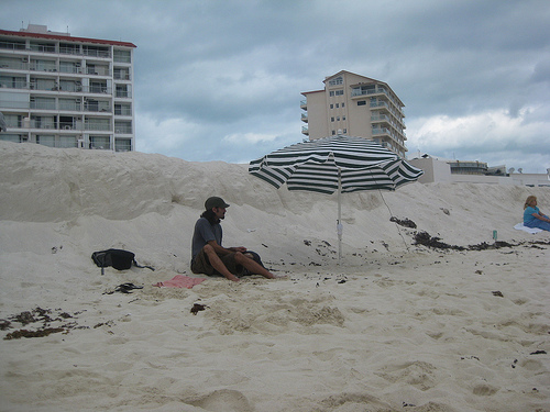 Jorge making himself comfortable at Gaviota Azul Beach,Cancun