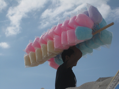 Street vendor selling Cotton Candy