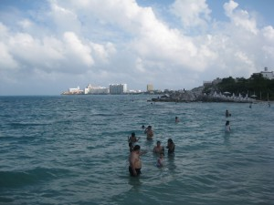 Mar de Playa Tortugas, Cancun