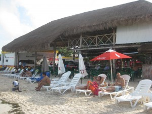 Chilling out at Playa Tortugas!