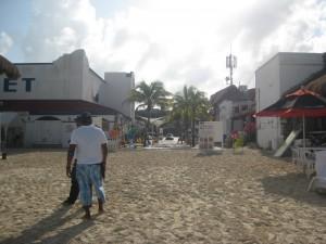 La entrada a Playa Tortugas