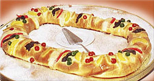 Rosca de Reyes or Three Kings Bread