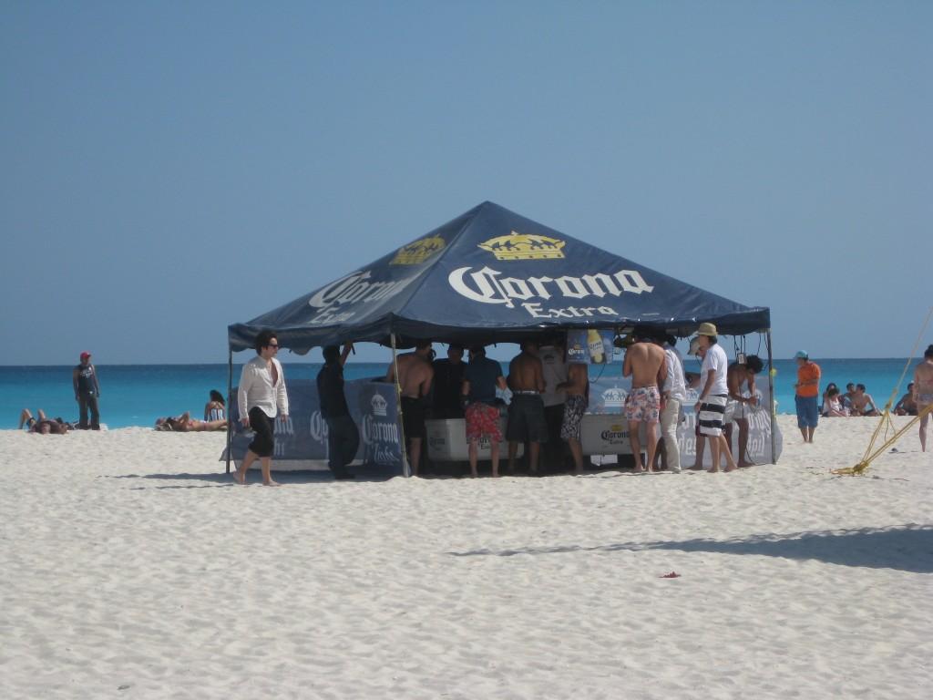 The Corona event beach hut!